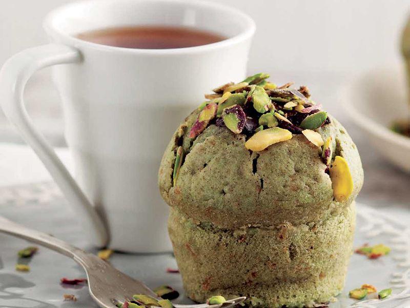 Antep fıstıklı ve çikolatalı muffin