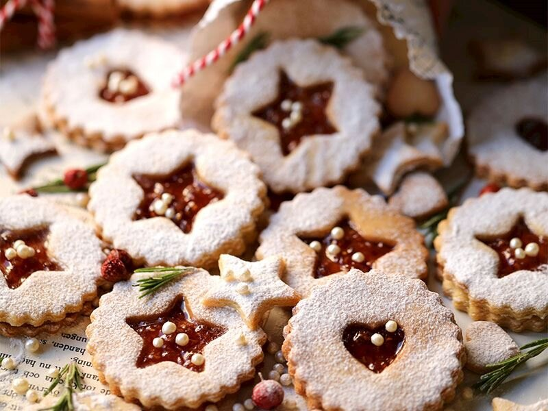 Avusturya usulü Linzer kurabiye