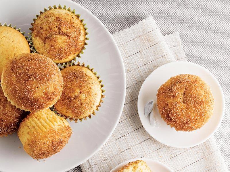 Badem şekerli ve çikolata dolgulu muffin