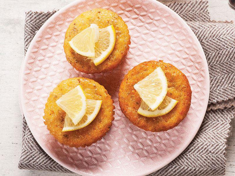 Ballı ve limonlu muffin
