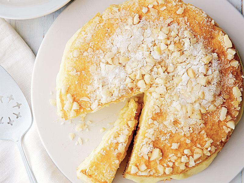 Beyaz çikolatalı pudingli kek