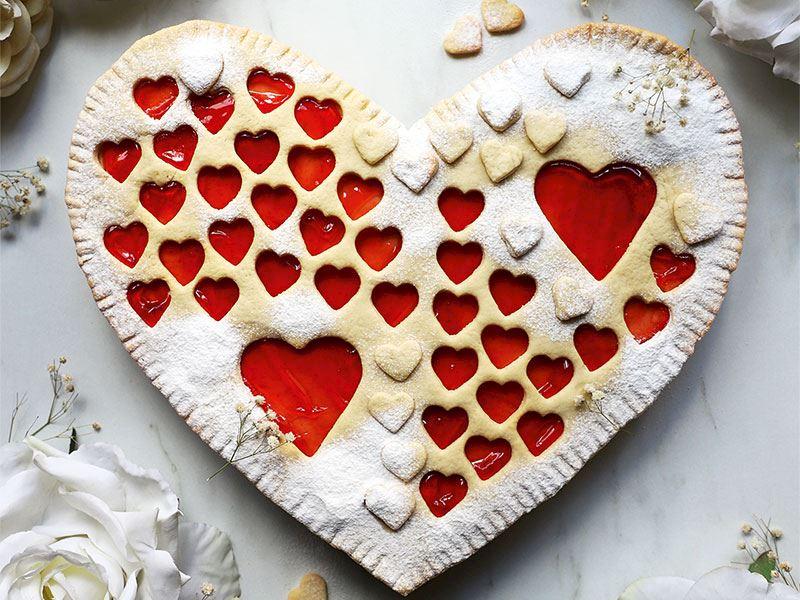 Büyük kalp kurabiye