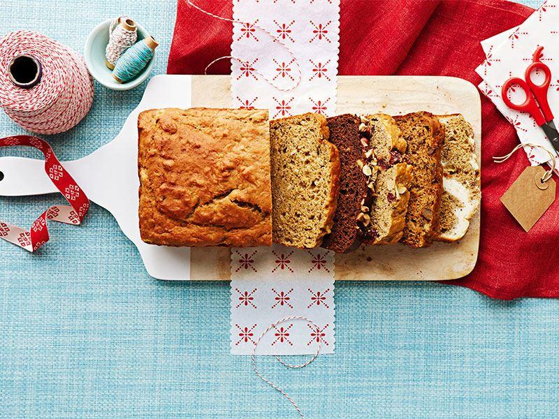 Cheesecake ve çay baharatı ile muzlu ekmek