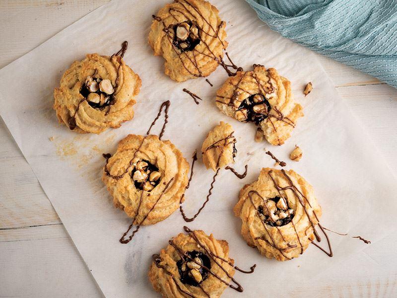Çikolatalı krokanlı kurabiye