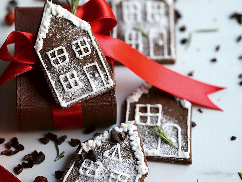 Çikolatalı kurabiye evler