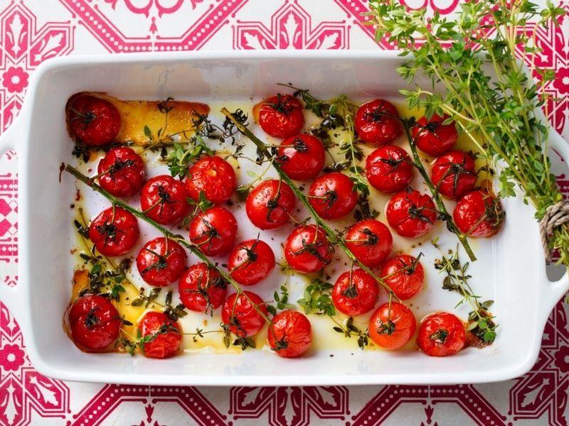 Fırında Cherry Domates Salatası