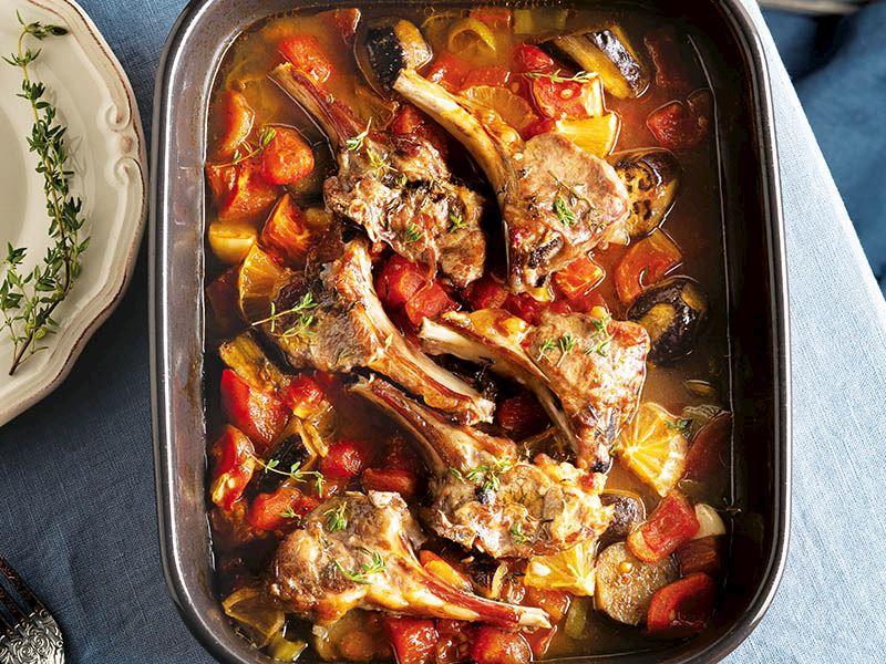 Fırında patlıcanlı pirzola