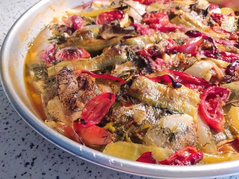 Fırında Sebzeli Somon Balığı