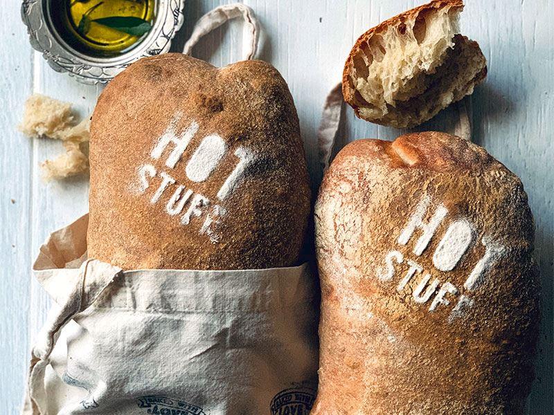 İtalyan ciabatta ekmeği