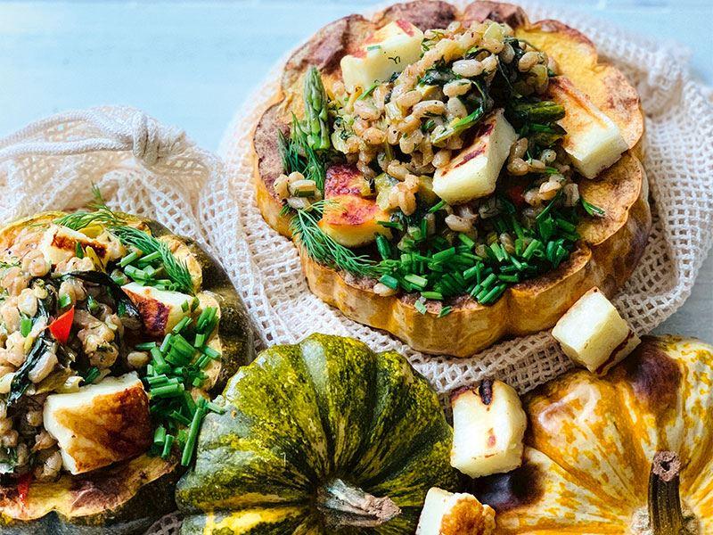 İtalyan usulü Farro buğdaylı ve ıspanaklı pilav