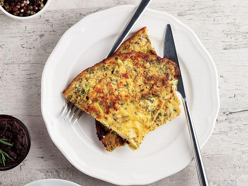 Kabaklı ve dereotlu omlet