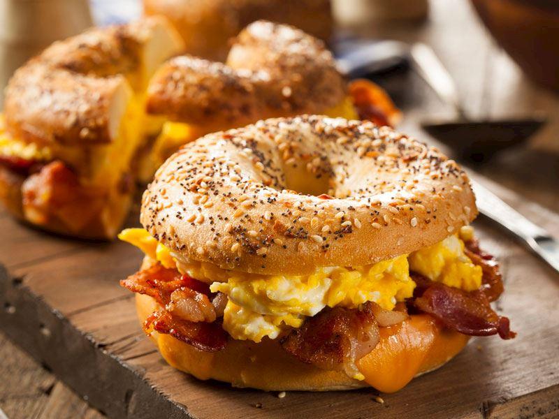 Kahvaltılık Bagel Sandviç