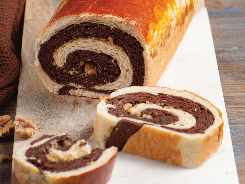 Kakaolu cevizli ekmek