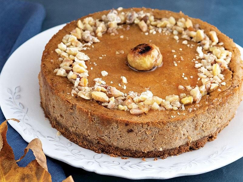 Kestaneli ve kahveli cheesecake