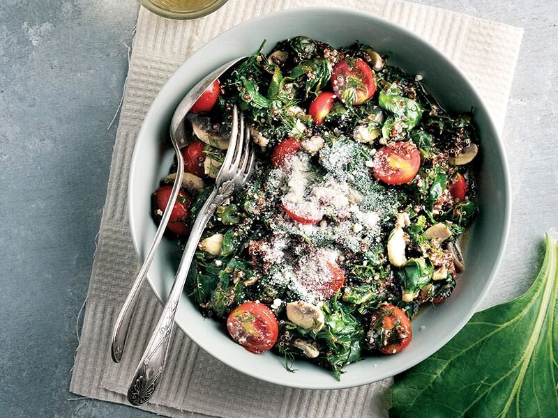 Kinoalı ılık pazı salatası