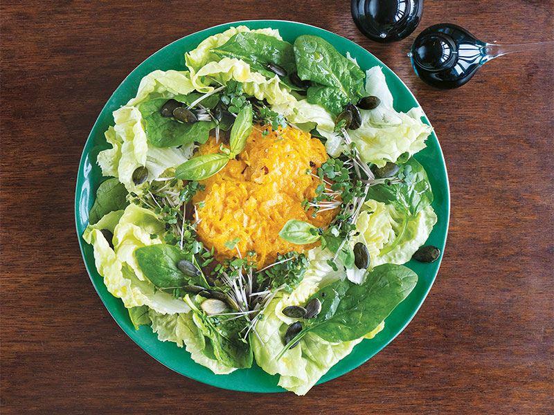 Kızarmış balkabaklı salata