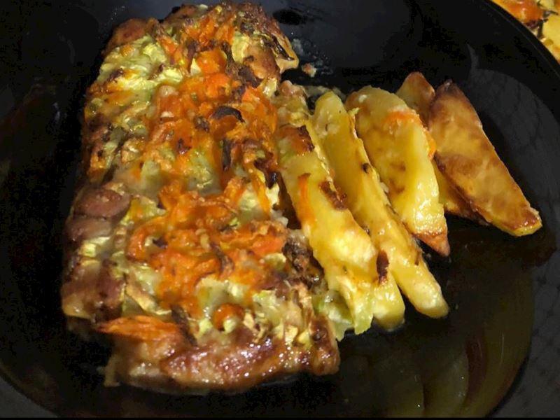 Kremalı sebzeli tavuk