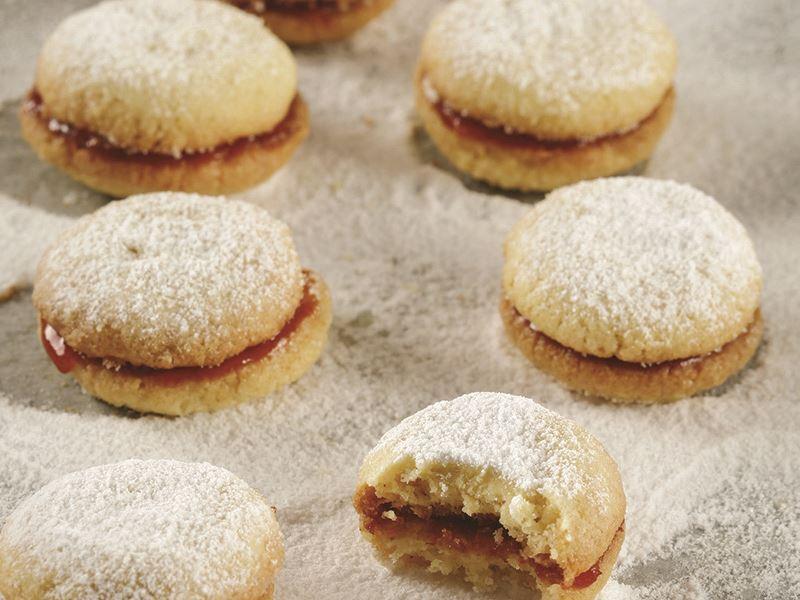 Kuşburnu marmelatlı kurabiye