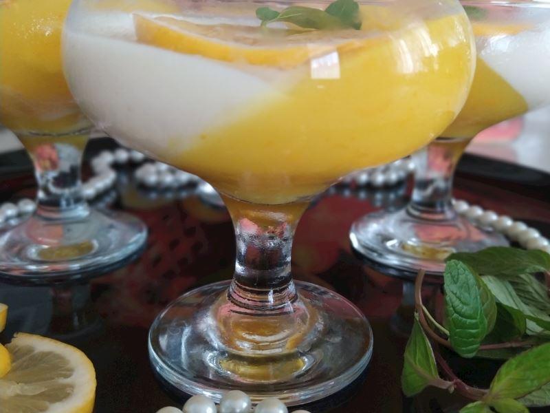 Limon jöleli sakızlı muhallebi