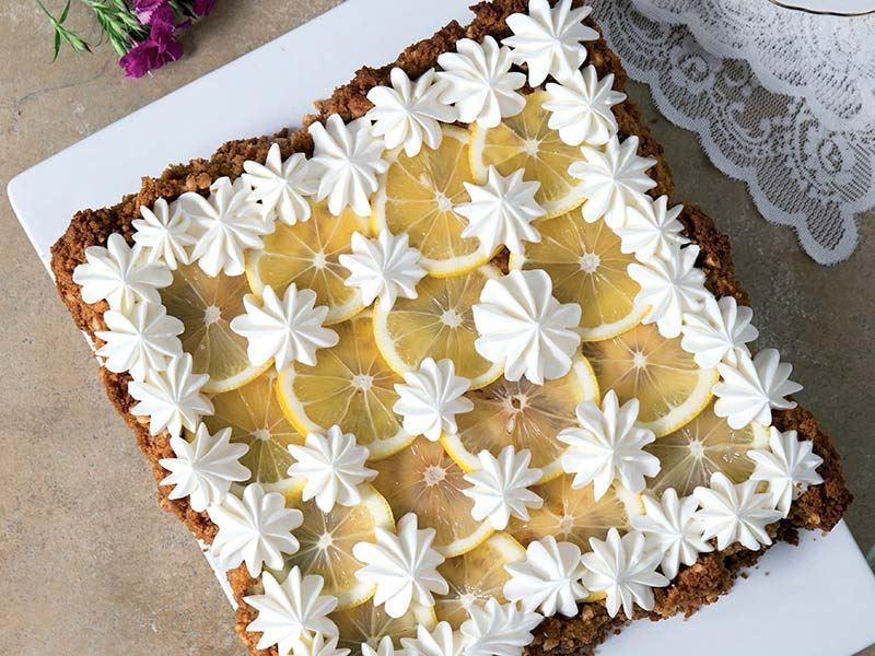 Limonlu bisküvi tart