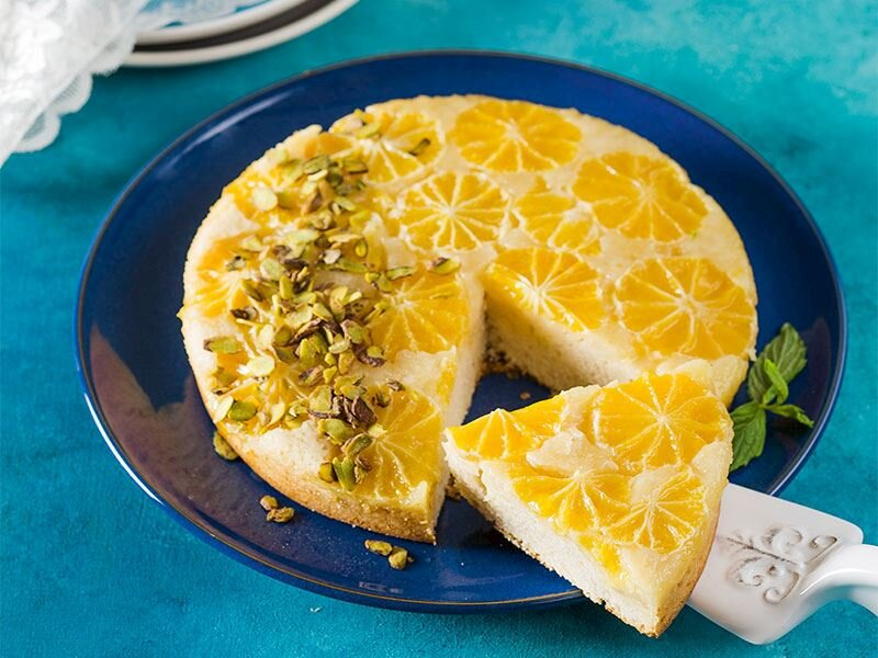Mandalinalı altüst kek