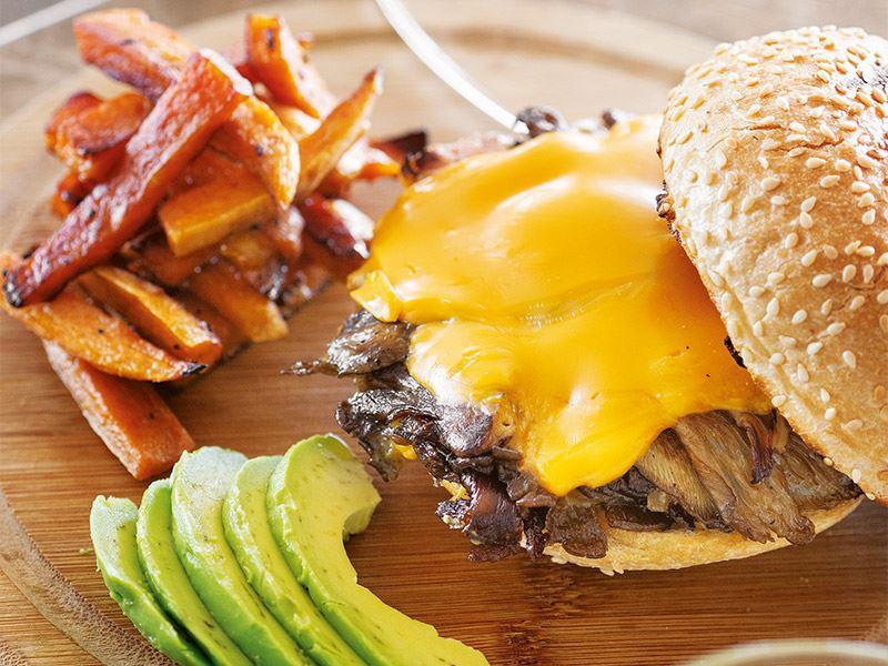 Mantarlı cheese burger