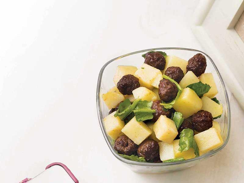 Miti köfteli patates salatası