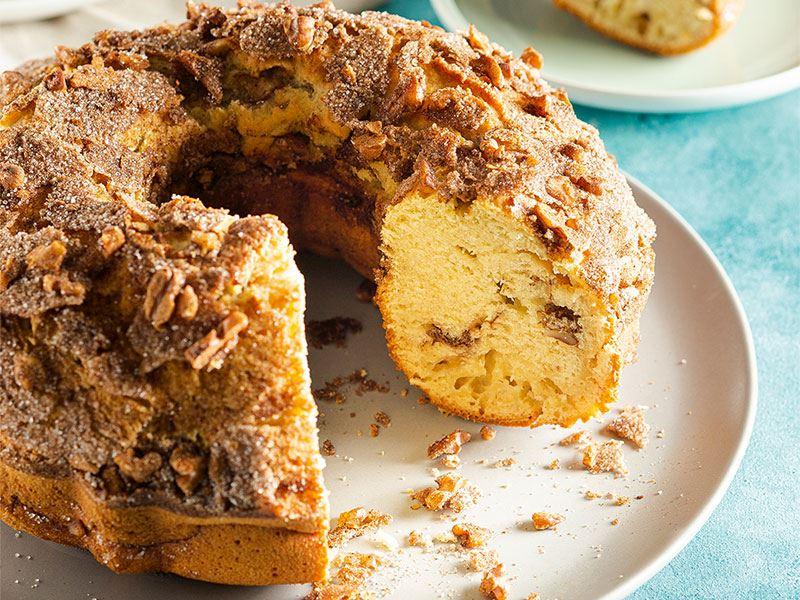 Muz kremalı ve kahveli kek