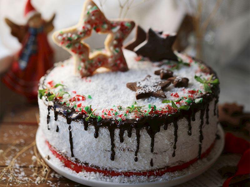 Neşeli kış pastası