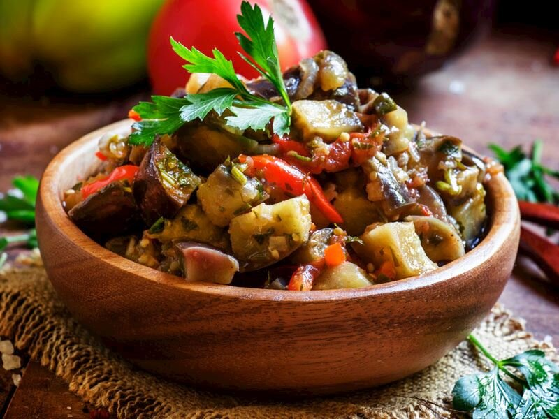 Patatesli Patlıcan Yemeği