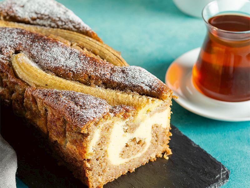 Peynir dolgulu muzlu kek
