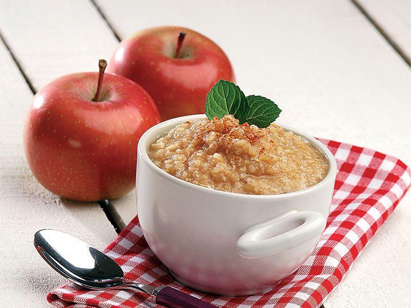 Pirinçli elma püresi