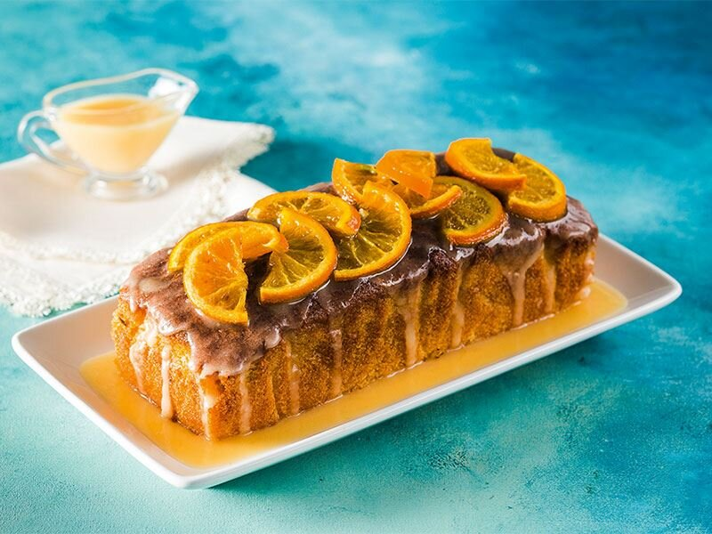 Portakal glazürlü kek
