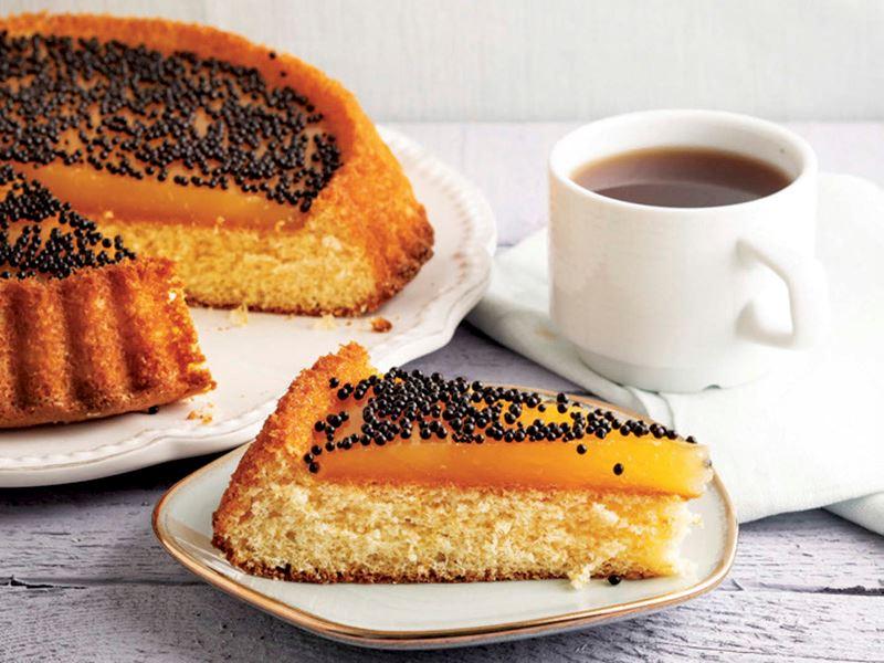 Portakal jöleli kek