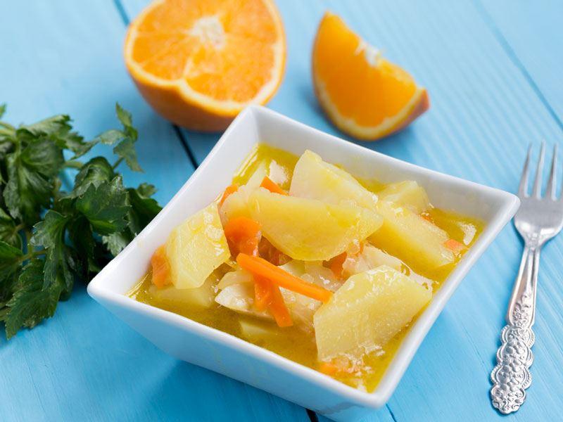 Portakallı Kereviz Yemeği