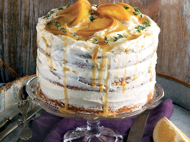Portakallı üç katlı kek