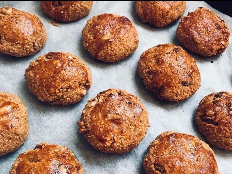 Rafine şekersiz Portakallı Yulaflı kurabiye