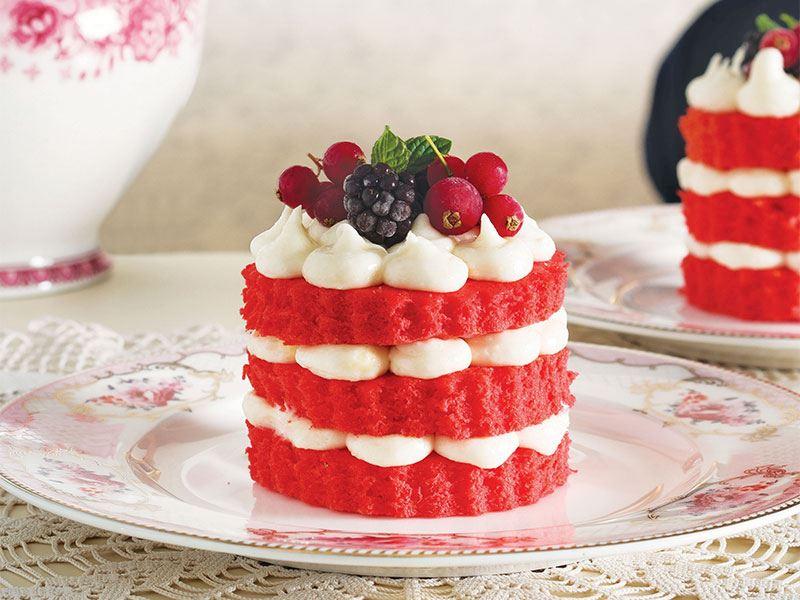 Red velvet mini pastacıklar