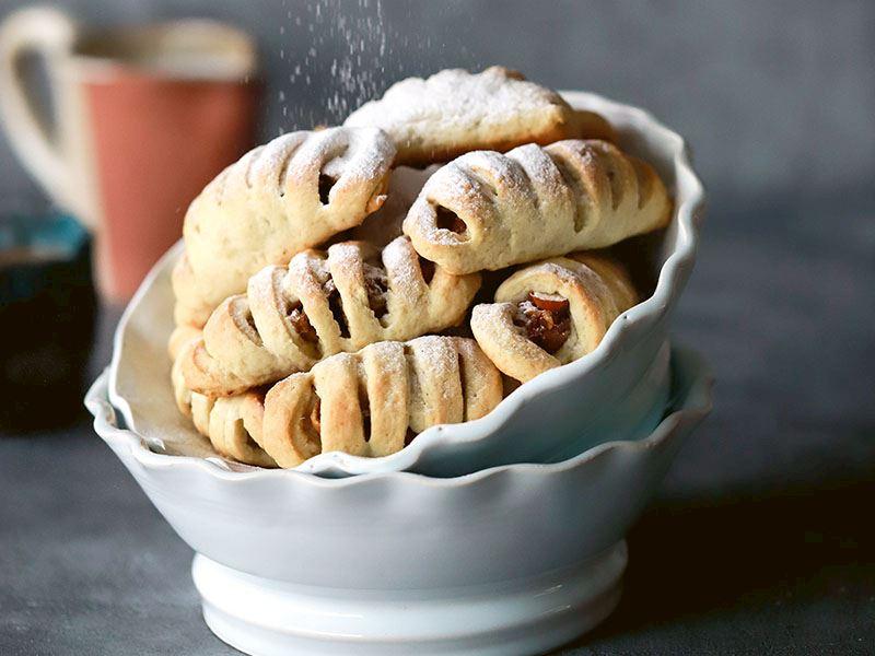Salepli ve incirli kurabiye