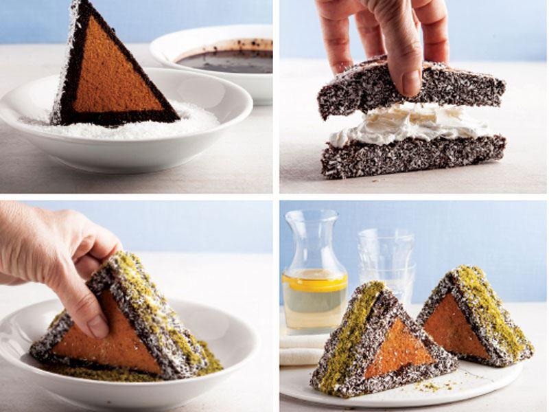 Sandviç üçgen kek