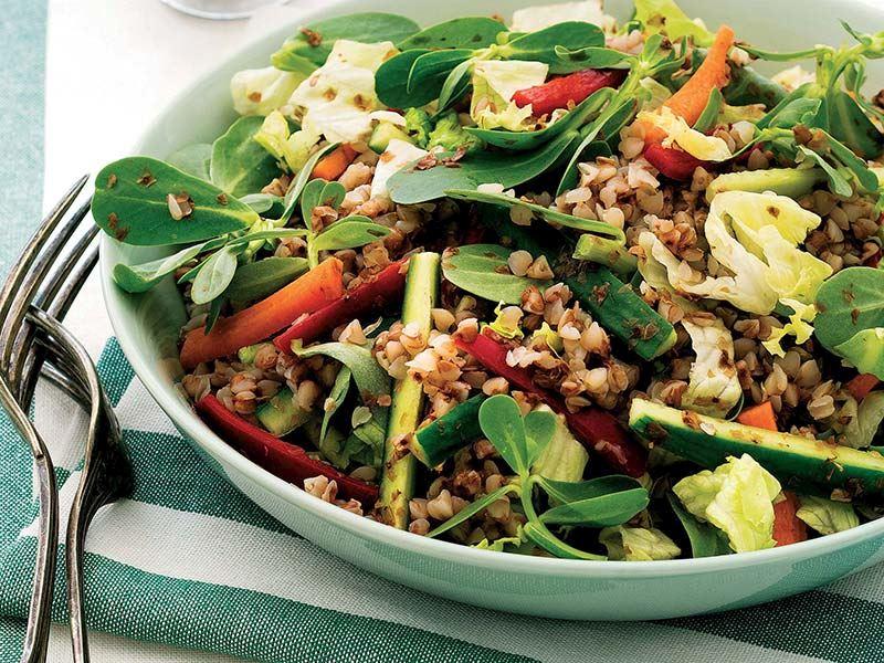 Semizotlu karabuğday salatası
