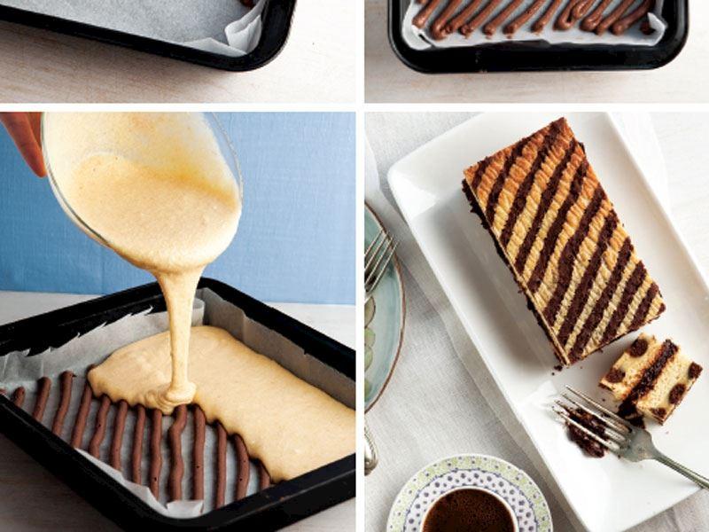 Şeritli kek