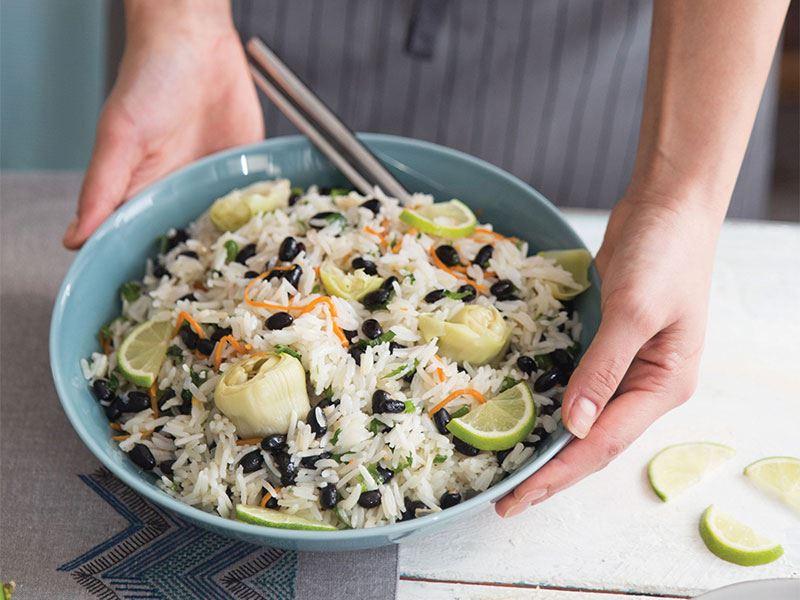 Siyah fasulyeli pirinç pilavı