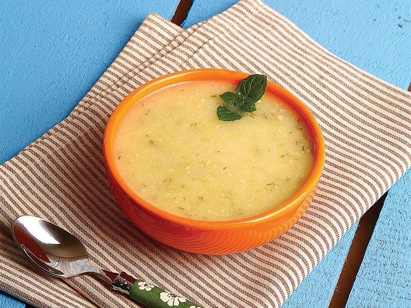 Terbiyeli kabak çorbası