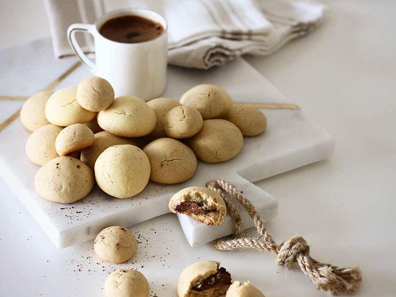 Türk kahveli ve çikolatalı kurabiyeler