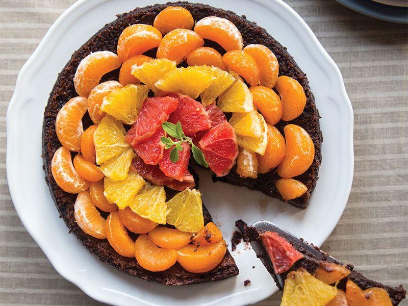 Turunçgilli unsuz kek
