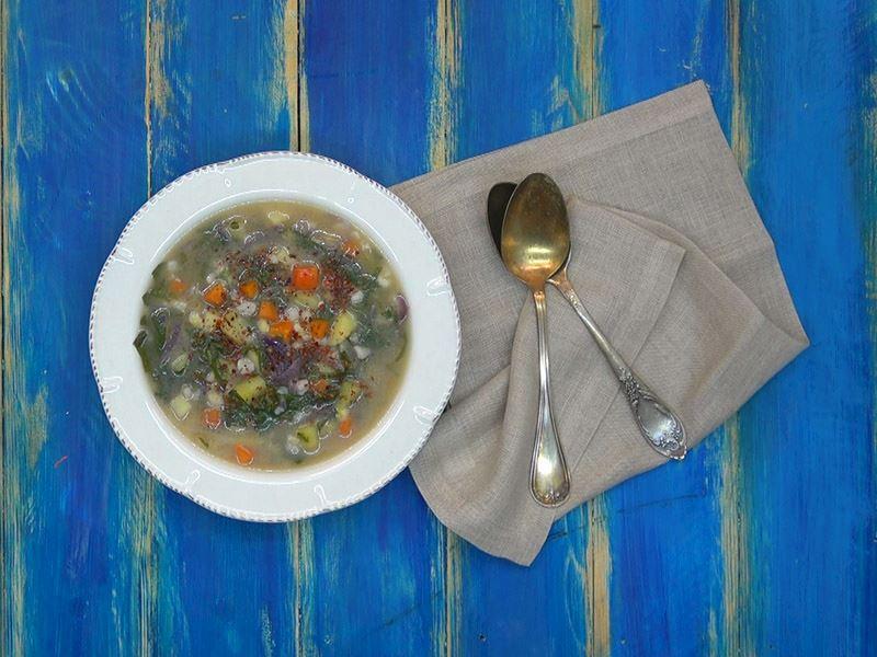 Yarma mısırlı ıspanak çorbası