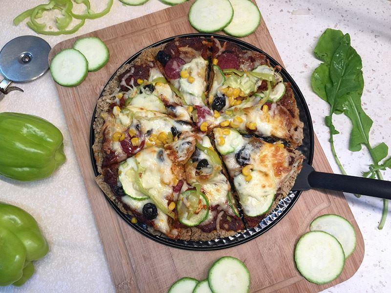 Yulaf tabanlı pizza