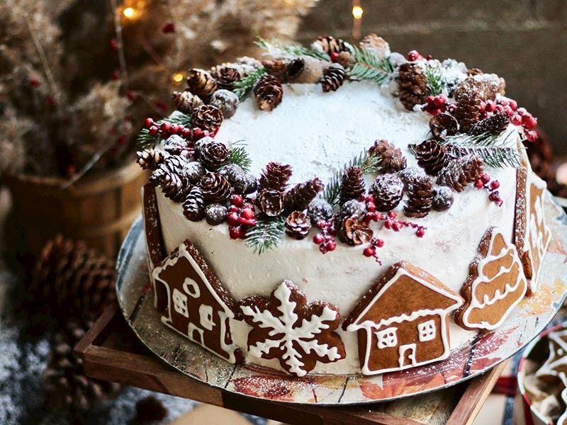 Zencefilli kurabiyeli kış pastası