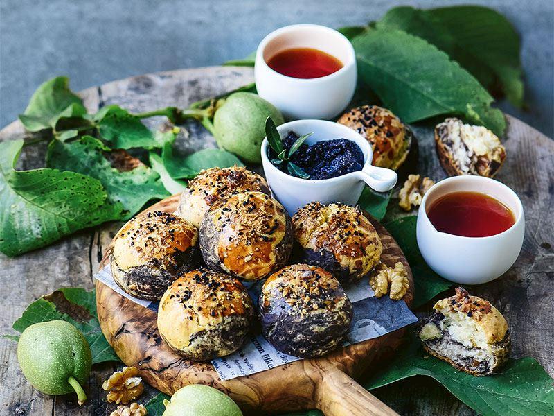 Zeytinli cevizli kurabiye